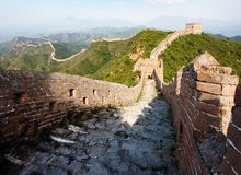 View of evening Great Wall of China Royalty Free Stock Photos