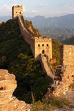 View of evening Great Wall of China Royalty Free Stock Photo