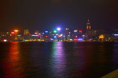 View of the evening Hong Kong. Stock Image