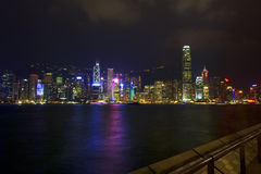 View of the evening Hong Kong. Royalty Free Stock Photo