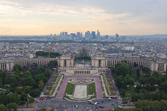 View on evening Paris Stock Photos