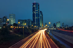 View on evening Tel Aviv, Israel. Royalty Free Stock Photos