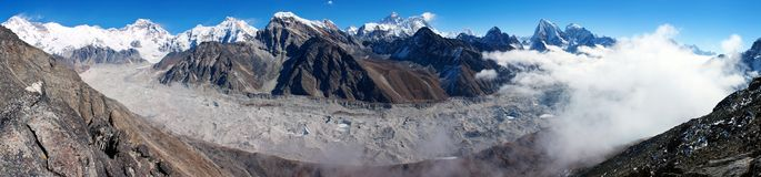 View of everest from gokyo ri Royalty Free Stock Image