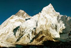 View of everest from gokyo ri Stock Photos