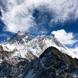View of everest from gokyo ri Stock Images