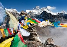 View of everest from gokyo ri Stock Image
