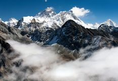 View of everest from gokyo ri Stock Photography