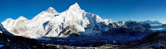 View of everest from kala patthar Royalty Free Stock Photography