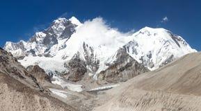 View of Everest Lhotse and Lhotse Shar royalty free stock photos