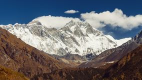 View of Everest on the way to Everest Base Camp - Nepal.  stock video footage