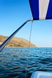 View from the excursion catamaran Royalty Free Stock Images