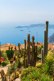 View from the exotique garden in Eze on Cote dAzur Stock Photo