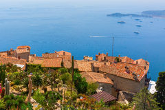 View from the exotique garden in Eze on Cote dAzur Stock Images