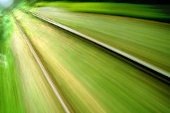 View from an express train on high speed Royalty Free Stock Photos