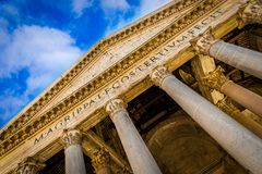 The Pantheon Temple, Rome, Italy. A view of the exterior of the Pantheon temple, Rome, Italy Stock Photos