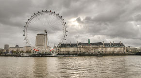 View of The Eye across the Thames, London Royalty Free Stock Image