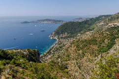 View from Eze in Provence, France Stock Photos