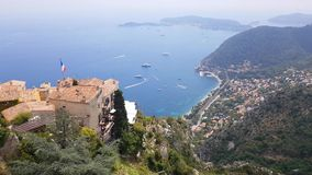 View of Eze, south of France. View of Eze, French Riviera