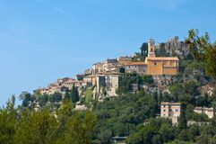 View of Eze town Stock Photo