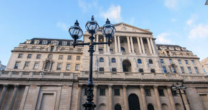 View of the facade of the Bank of England in the City of London Royalty Free Stock Photos