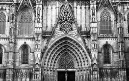 Cathedral of Barcelona Royalty Free Stock Photos