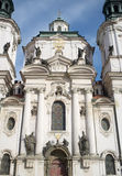 The church of St. Nicholas in Prague Stock Images
