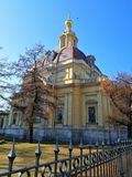 View of the facade of the Church royalty free stock photography