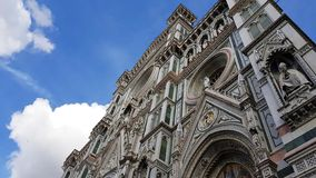 The facade of the Florence Cathedral, Tuscany, Italy stock photography