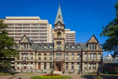 Halifax City Hall, Halifax. View of the facade of the Halifax City Hall, Halifax, Nova Scotia, Canada stock photography