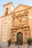 View at the facade of Merced church in Murcia, Spain. View at the facade of Merced church in Murcia - Spain royalty free stock image