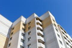 View of facade modern multi storey house Stock Photos