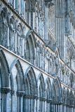 Facade of old cathedral in Trondheim, Norway. Royalty Free Stock Images