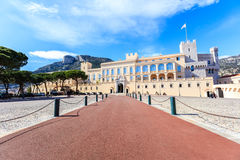 View of the facade of the Princes Palace of Monaco in Monaco-Vil Stock Photography