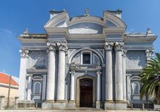 View at the facade of San Francisco church in Guatemala City stock image
