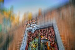 View with facade of a shop typical Venetian Royalty Free Stock Image
