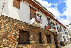 View of the facade of two houses, La Alpujarra, Granada, Spain Royalty Free Stock Image