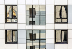 View of the Facade and Windows of a modern skyscraper. Close-up Royalty Free Stock Image