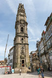View of facades, alleyway and traditional houses in  Porto Stock Photos