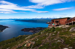 View from Fagernes mountain. Narvik. royalty free stock photos