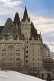 View of Fairmont Chateau Laurier from the Parliament Hill, Ottawa, Canada. Royalty Free Stock Images