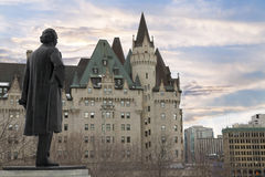 View of Fairmont Chateau Laurier from the Parliament Hill, Ottawa, Canada. Stock Photo