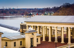 View of the Fairmount Water Works and the Schuylkill River in Ph Royalty Free Stock Photography