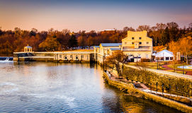 View of Fairmount Water Works and the Schuylkill River in Philad Royalty Free Stock Photo