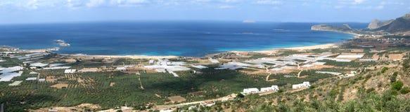 View of Falasarna beach Royalty Free Stock Photography