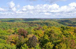 View of Fall Colors from Dorset Tower #3. View of fall colors and dramatic clouds from Dorset Tower, Ontario royalty free stock photo