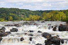 A View of the Falls at Great Falls Park in Virginia stock photo