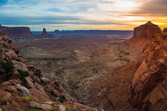 View from the False Kiva Trail after Sunset Royalty Free Stock Images