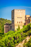 View of the famous Alhambra, Granada, Spain. Stock Images