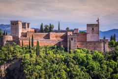 View of the famous Alhambra, Granada, Spain. Stock Photography