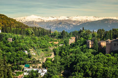 View of the famous Alhambra, Granada, Spain. Royalty Free Stock Photo
